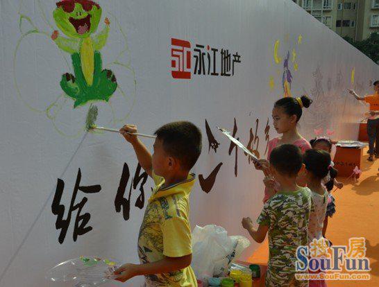 中秋佳节亲子儿童画